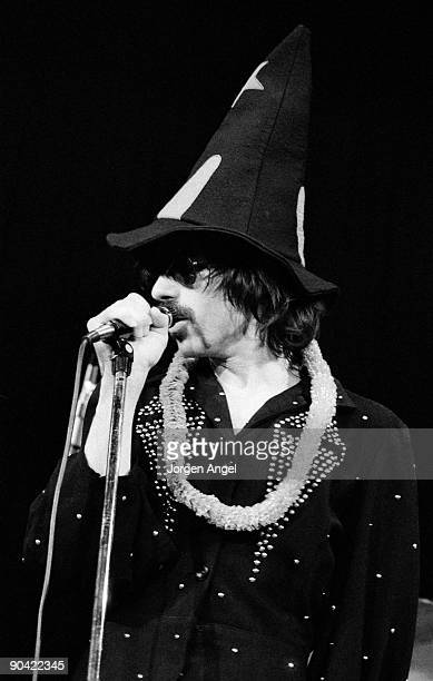 Peter Wolf of the J Geils Band perform on stage in June 1972 in Copenhagen Denmark