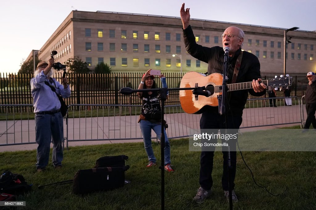 Activists Hold Vigil Marking 50th Anniversary Of March On the Pentagon