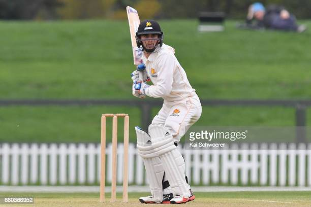Peter Younghusband of Wellington batting during the Plunket Shield match between Canterbury and Wellington on March 30 2017 in Christchurch New...