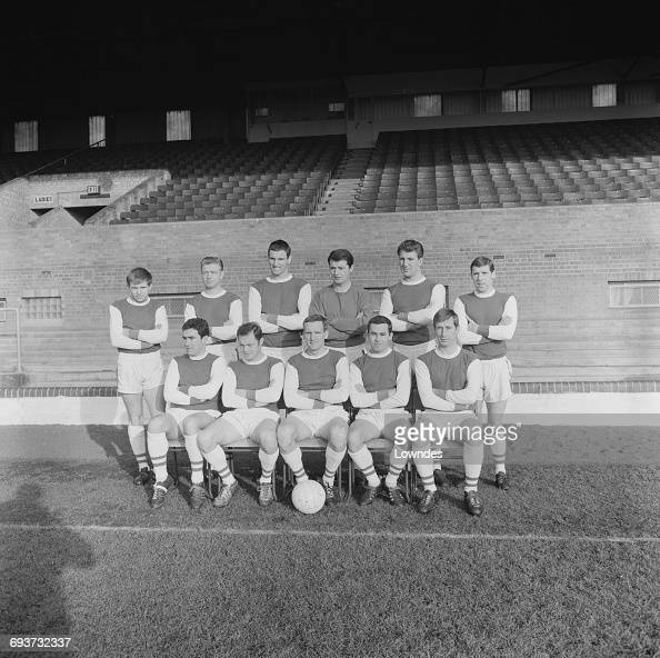 Peterborough United FC UK 29th January 1965 Team captain Vic Crowe is in the centre of the front row