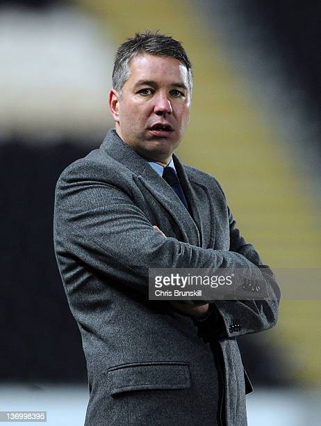 Peterborough United manager Darren Ferguson looks on during the npower Championship match between Hull City and Peterborough United at KC Stadium on...