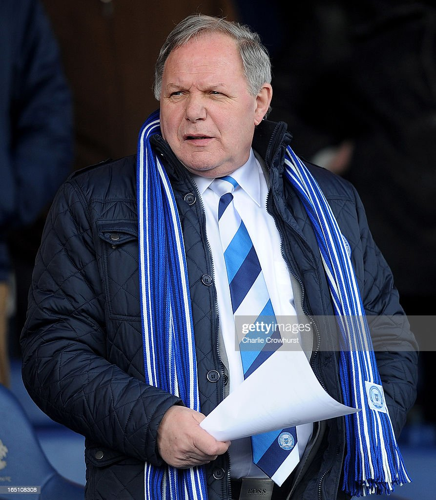 Peterborough's director of football Barry Fry during the npower Championship match between Peterborough United and Cardiff City at London Road on March 30, 2013 in Peterborough, England,