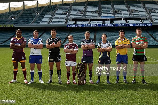 Petero Civoniceva of the Broncos Andrew Ryan of the Bulldogs Steven Price of the Warriors Matt Orford of the Sea Eagles Cameron Smith of the Storm...