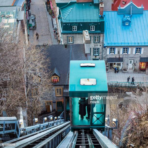 Petit Champlain, historic district of Old Quebec City, that can be accessed faster by using the funicular of Dufferin Promenade.