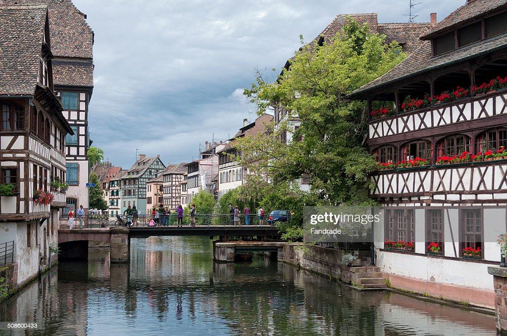 Petite France Strasbourg Alsace France : Stock Photo