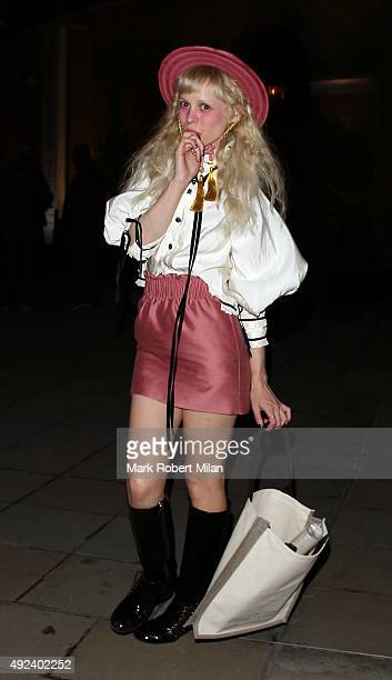 Petite Meller attending the Chanel Exhibition Party at the Saatchi Gallery on October 12 2015 in London England