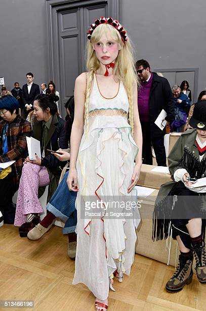 Petite Meller attends the Chloe show as part of the Paris Fashion Week Womenswear Fall/Winter 2016/2017 on March 3 2016 in Paris France