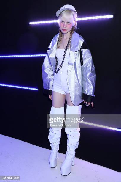 Petite Meller attends the MercedesBenz #MBCOLLECTIVE Chapter 1 launch party with M I A and Tommy Genesis on March 23 2017 in London United Kingdom