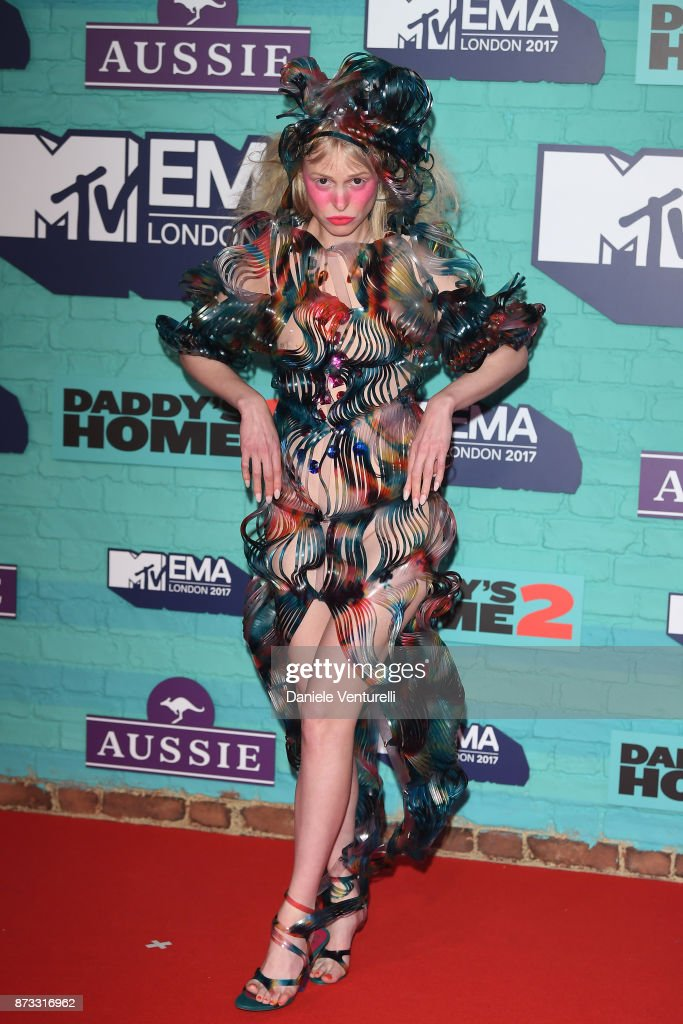 Petite Meller attends the MTV EMAs 2017 held at The SSE Arena, Wembley on November 12, 2017 in London, England.
