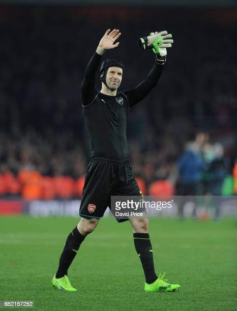 Petr Cech of Arsenal after the match between Arsenal and Lincoln City at Emirates Stadium on March 11 2017 in London England