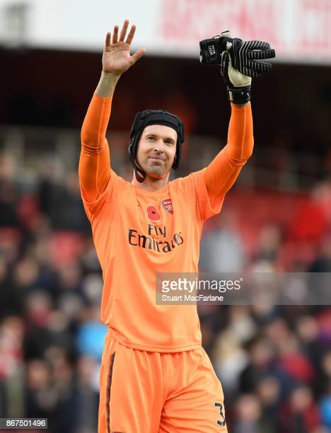 Petr Cech of Arsenal after the Premier League match between Arsenal and Swansea City at Emirates Stadium on October 28 2017 in London England