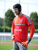 Petr Cech of Arsenal during a 1st team training session at London Colney on July 23 2016 in St Albans England