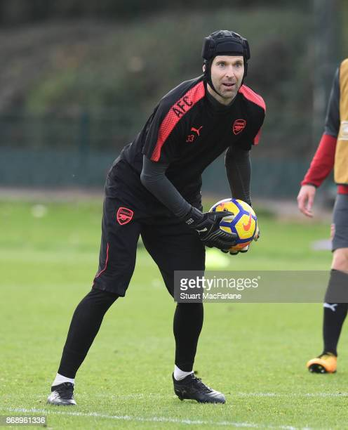 Petr Cech of Arsenal during a training session at London Colney on November 1 2017 in St Albans England