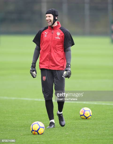 Petr Cech of Arsenal during a training session at London Colney on November 4 2017 in St Albans England