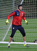 Petr Cech of Arsenal during a training session at London Colney on September 18 2015 in St Albans England
