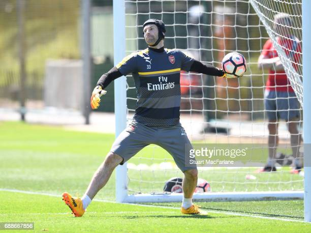 Petr Cech of Arsenal during a training session at London Colney on May 26 2017 in St Albans England