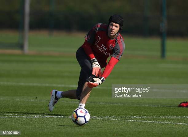 Petr Cech of Arsenal during a training session at London Colney on September 24 2017 in St Albans England