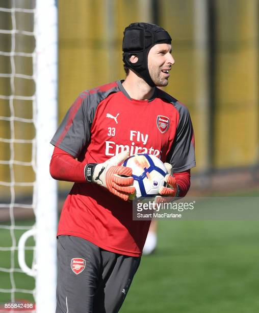 Petr Cech of Arsenal during a training session at London Colney on September 30 2017 in St Albans England