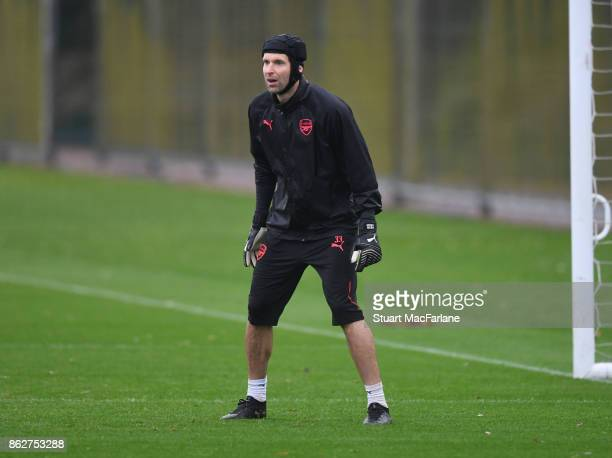 Petr Cech of Arsenal during a training session at London Colney on October 18 2017 in St Albans England