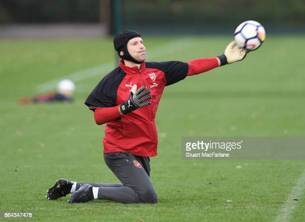 Petr Cech of Arsenal during a training session at London Colney on October 21 2017 in St Albans England