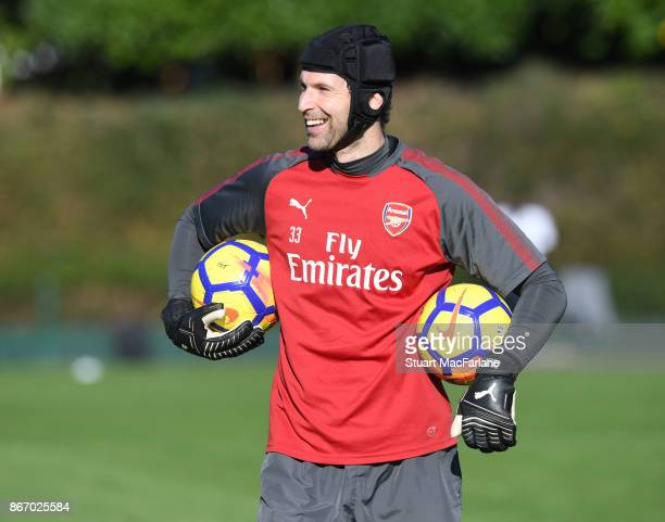 Petr Cech of Arsenal during a training session at London Colney on October 27 2017 in St Albans England