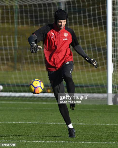 Petr Cech of Arsenal during a training session at London Colney on November 17 2017 in St Albans England