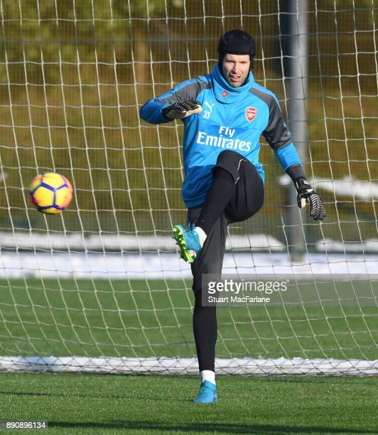 Petr Cech of Arsenal during a training session at London Colney on December 12 2017 in St Albans England