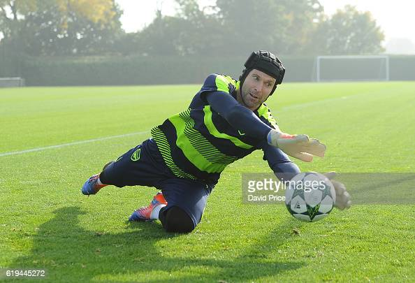 Petr Cech of Arsenal during the Arsenal Training Session at London Colney on October 31 2016 in St Albans England
