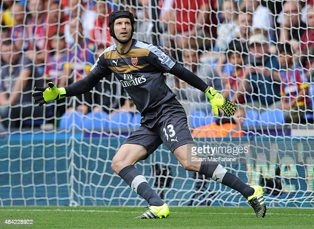 Petr Cech of Arsenal during the Barclays Premier League match between Crystal Palace and Arsenal at Selhurst Park on August 16 2015 in London United...