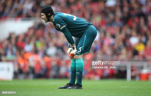 Petr Cech of Arsenal during the Premier League match between Arsenal and Brighton and Hove Albion at Emirates Stadium on October 1 2017 in London...