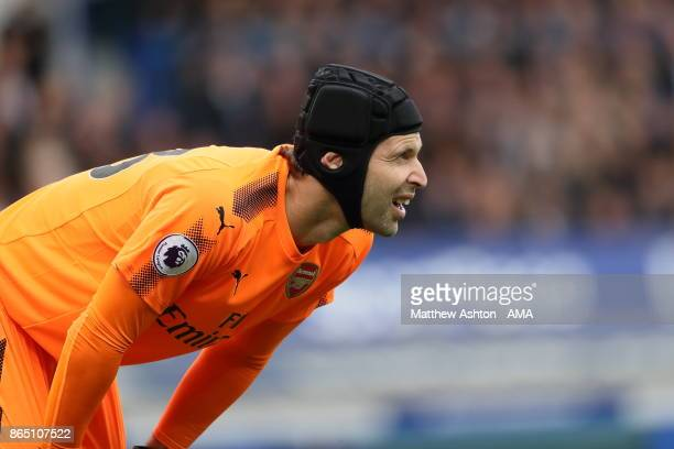 Petr Cech of Arsenal during the Premier League match between Everton and Arsenal at Goodison Park on October 22 2017 in Liverpool England