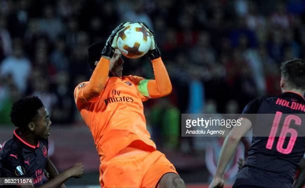 Petr Cech of Arsenal FC in action during the UEFA Europa League group H match between Crvena Zvezda and Arsenal FC at Rajko Mitic Stadium n Belgrade...