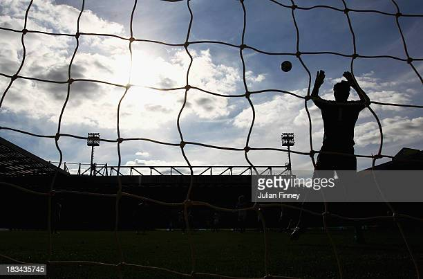 Petr Cech of Chelsea makes a save during the Barclays Premier League match between Norwich City and Chelsea at Carrow Road on October 6 2013 in...