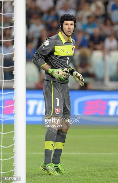 Petr Cech of Czech Republic during the FIFA 2014 World Cup Qualifier group B match between Italy and Czech Republic at Juventus Arena on September 10...