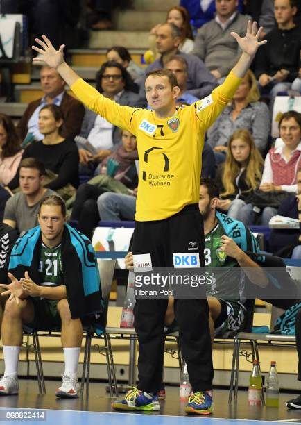 Petr Stochl of Fuechse Berlin during the game between Fuechse Berlin and the HC Erlangen on September 12 2017 in Berlin Germany