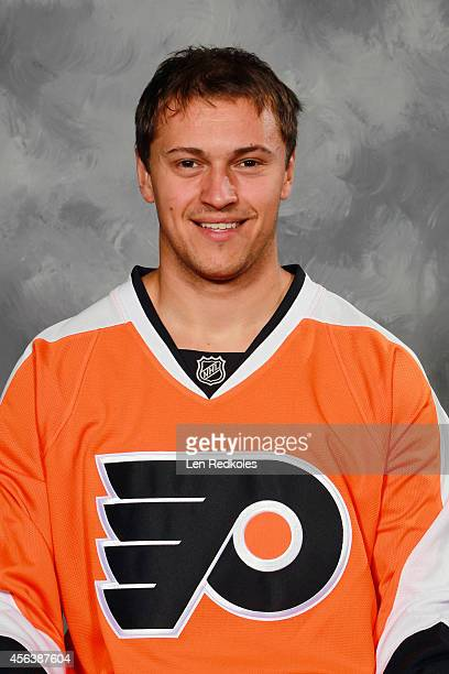 Petr Straka of the Philadelphia Flyers poses for his official headshot for the 20142015 season on July 10 2014 at the Virtua Flyers Skate Zone in...