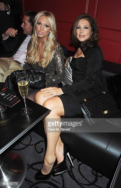 Petra and Slavica Ecclestone attend the opening party of The Red Room on November 2 2009 in London England