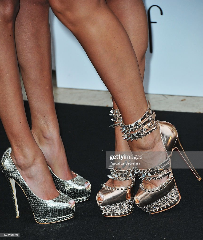 Petra and Tamara Ecclestone attend the Amber Fashion Show and Charity Auction at Le Meridien Beach Plaza Hotel on May 25 2012 in Monaco Monaco