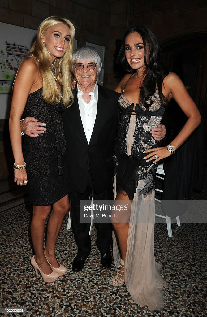 Petra, Bernie and <a gi-track='captionPersonalityLinkClicked' href=/galleries/search?phrase=Tamara+Ecclestone&family=editorial&specificpeople=575176 ng-click='$event.stopPropagation()'>Tamara Ecclestone</a> attend the F1 Party, at the Natural History Museum on July 5, 2010 in London, England.