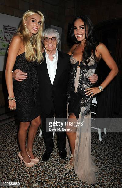 Petra Bernie and Tamara Ecclestone attend the F1 Party at the Natural History Museum on July 5 2010 in London England