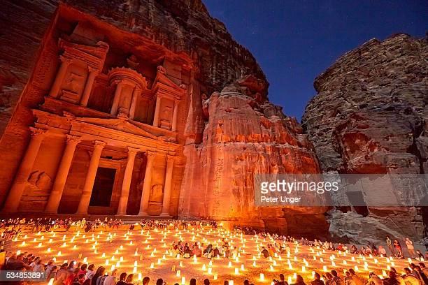 Petra by night at the Treasury
