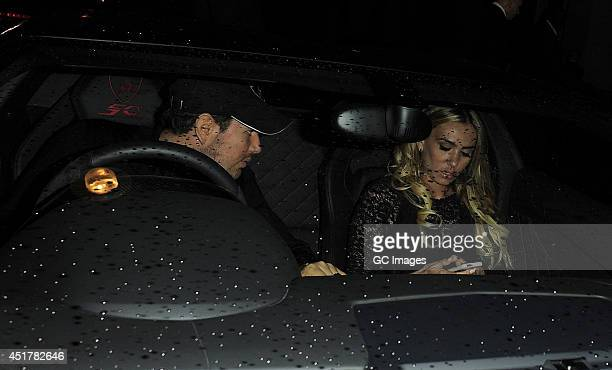 Petra Ecclestone and James Stunt leave Kai restaurant in Mayfair on July 6 2014 in London England