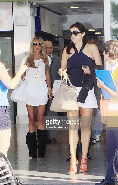 Petra Ecclestone and Slavica Ecclestone sighting at Ciampino Airport as they arrive for Petra Ecclestone and James Stunt's wedding on August 25 2011...