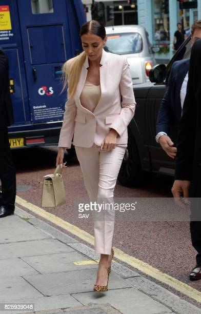 Petra Ecclestone arrives at the Family Court for her divorce hearing on August 3 2017 in London England