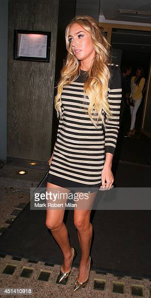 Petra Ecclestone at Nobu Berkeley to celebrate Tamara Ecclestone's birthday on June 28 2014 in London England