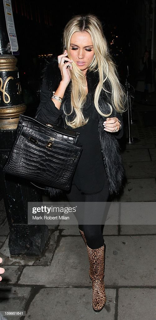 Petra Ecclestone at Nobu restaurant on January 23, 2013 in London, England.