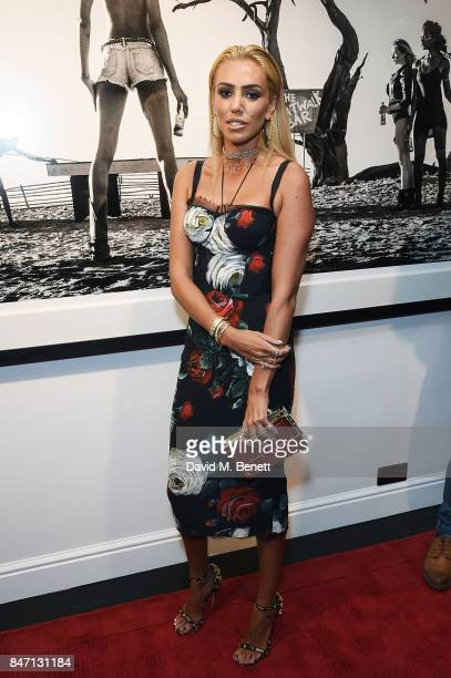 Petra Ecclestone attends the private view of leading wildlife photographer David Yarrow's exhibition at Maddox Gallery Westbourne Grove in...