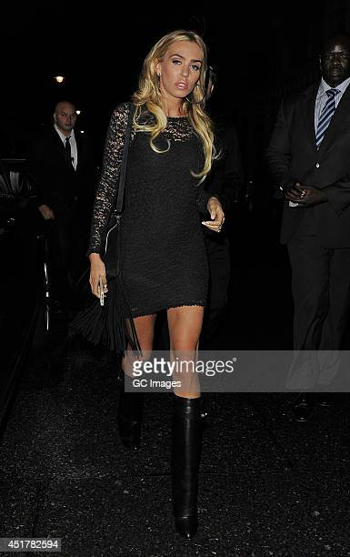 Petra Ecclestone leaves Kai restaurant in Mayfair on July 6 2014 in London England