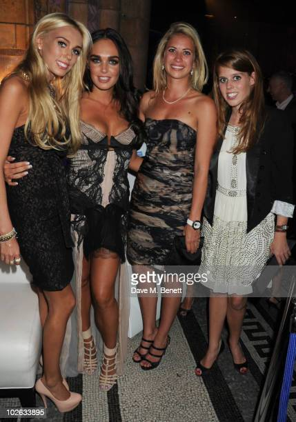 Petra Ecclestone Tamara Ecclestone Holly Branson and Princess Beatrice attend the F1 Party at the Natural History Museum on July 5 2010 in London...