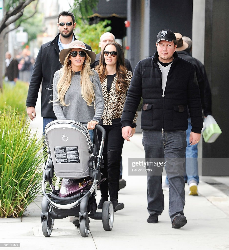 Petra Ecclestone with daughter, Lavinia Stunt and <a gi-track='captionPersonalityLinkClicked' href=/galleries/search?phrase=Tamara+Ecclestone&family=editorial&specificpeople=575176 ng-click='$event.stopPropagation()'>Tamara Ecclestone</a> are seen on December 07, 2013 in Los Angeles, California.